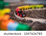 colourful wooden toy train on...   Shutterstock . vector #1047626785