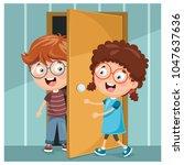 vector illustration of kid...   Shutterstock .eps vector #1047637636