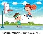 vector illustration of kids... | Shutterstock .eps vector #1047637648