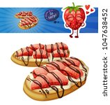 strawberry bruschetta icon... | Shutterstock .eps vector #1047638452