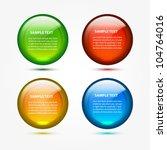 vector glass web boxes | Shutterstock .eps vector #104764016