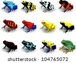 set poison arrow frog  vector... | Shutterstock .eps vector #104765072