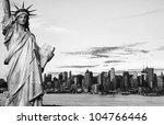 black and white new york city... | Shutterstock . vector #104766446