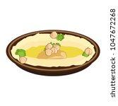 chickpeas hummus icon   Shutterstock .eps vector #1047672268