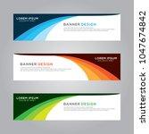 abstract modern banner... | Shutterstock .eps vector #1047674842