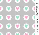 cute seamless vector pattern... | Shutterstock .eps vector #1047676012