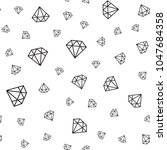 vector seamless diamonds... | Shutterstock .eps vector #1047684358