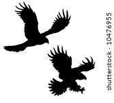 silhouettes of the ravenous... | Shutterstock . vector #10476955