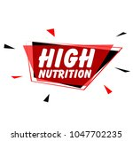 high nutrition sign with red... | Shutterstock .eps vector #1047702235