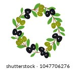 branches of green and black... | Shutterstock .eps vector #1047706276