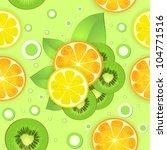 background with lemon kiwi...   Shutterstock .eps vector #104771516