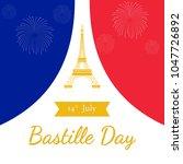 bastille day celebration in... | Shutterstock .eps vector #1047726892