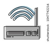 moved color router wireless... | Shutterstock .eps vector #1047742216