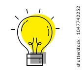 moved color creative light bulb ... | Shutterstock .eps vector #1047742252
