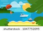 summer banner vector...   Shutterstock .eps vector #1047752095