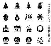 solid vector icon set  ... | Shutterstock .eps vector #1047755896