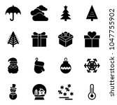 solid vector icon set    ... | Shutterstock .eps vector #1047755902
