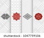 set of seamless geometric... | Shutterstock .eps vector #1047759106