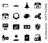 solid vector icon set   barrier ... | Shutterstock .eps vector #1047762346