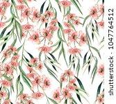 watercolor seamless pattern... | Shutterstock . vector #1047764512