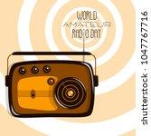 world amateur radio day. retro...   Shutterstock .eps vector #1047767716