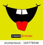 funny faces on a postcard | Shutterstock .eps vector #104778548