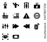 solid vector icon set   airport ... | Shutterstock .eps vector #1047807256