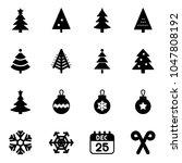 solid vector icon set  ... | Shutterstock .eps vector #1047808192