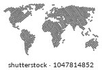 geographic map concept done of... | Shutterstock .eps vector #1047814852