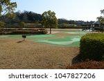 japanese putter golf course | Shutterstock . vector #1047827206