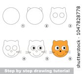 kid game to develop drawing... | Shutterstock .eps vector #1047828778