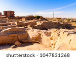 ancient ruins around the... | Shutterstock . vector #1047831268