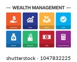 wealth management infographic... | Shutterstock .eps vector #1047832225