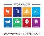 workflow infographic icon set | Shutterstock .eps vector #1047832228