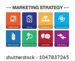 marketing strategy infographic... | Shutterstock .eps vector #1047837265