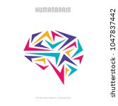 abstract human brain   business ... | Shutterstock .eps vector #1047837442