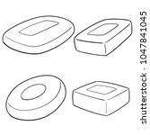 vector set of soap | Shutterstock .eps vector #1047841045