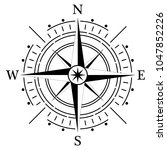 compass rose for marine or... | Shutterstock .eps vector #1047852226