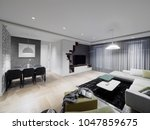 apartment interior design | Shutterstock . vector #1047859675