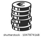 vector illustration of the euro ... | Shutterstock .eps vector #1047874168