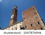 verona  italy   may 27  torre... | Shutterstock . vector #1047876946