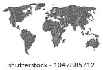 continent atlas pattern... | Shutterstock .eps vector #1047885712