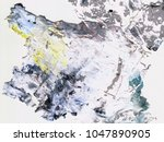 abstract art background. dried... | Shutterstock . vector #1047890905