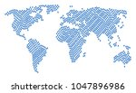 continent map collage designed... | Shutterstock .eps vector #1047896986