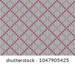 seamless knitted pattern.... | Shutterstock .eps vector #1047905425