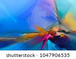 abstract colorful oil painting... | Shutterstock . vector #1047906535