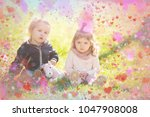 beautiful children. valentines... | Shutterstock . vector #1047908008