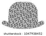 gentleman hat collage of dollar ... | Shutterstock .eps vector #1047938452