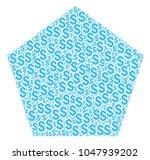 filled pentagon composition of...   Shutterstock .eps vector #1047939202