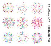 set of isolated brightly... | Shutterstock .eps vector #1047940498